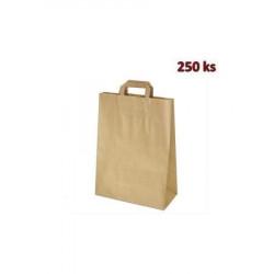 Papírové tašky hnědé 32 x 16 x 39 cm [250 ks]