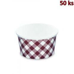 Papírové misky kulaté hnědé 350 ml, S (Ø 115 mm) [50 ks]