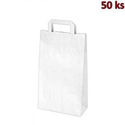 Papírové tašky bílé 22+10 x 39 cm [250 ks]