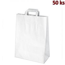 Papírové tašky bílé 32+16 x 39 cm [250 ks]