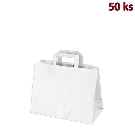 Papírové tašky bílé 32+16 x 27 cm [250 ks]