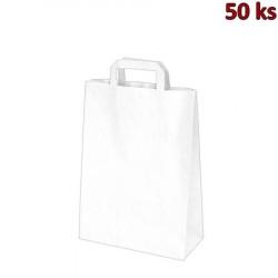 Papírové tašky bílé 26+14 x 32 cm [250 ks]
