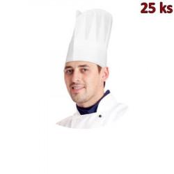 Kuchařské čepice papírové bílé 23cm [10 ks]