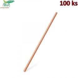 Slámka papírová JUMBO natural 28 cm, Ø 8 mm [100 ks]