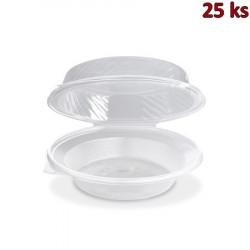 Salátová miska průhledná s vypouklým víčkem 1700 ml (PP) [25 ks]