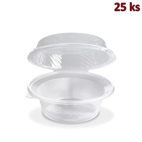 Salátová miska průhledná s vypouklým víčkem 2200 ml (PP) [25 ks]