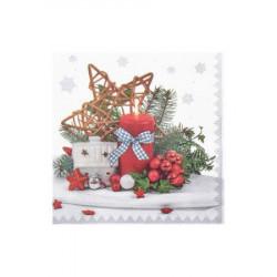 Vánoční ubrousky 3vrstvé 33x33 - motiv 84294 [20 ks]