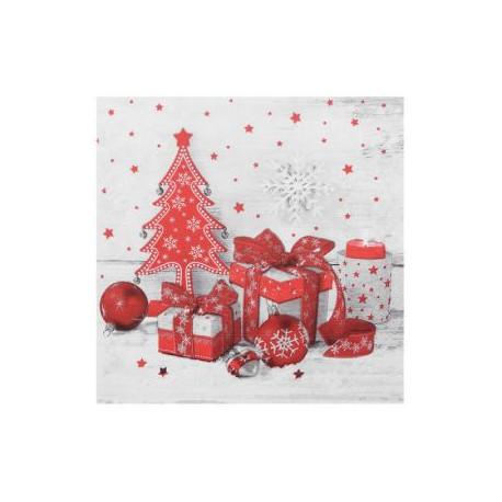 Vánoční ubrousky 3-vrstvé 33x33 - motiv 84279 [20 ks]