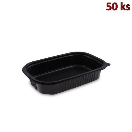 Menu mísa černá do mikrovl. trouby 850 ml, M 22x15 x 4,5 cm (PP) [50 ks]