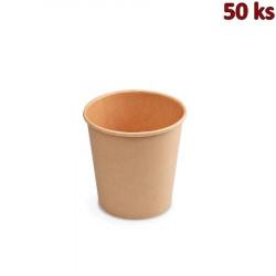 Papírový kelímek hnědý 200 ml S (Ø 73 mm) [50 ks]