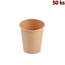 Papírový kelímek hnědý 280 ml M (Ø 80 mm) [50 ks]
