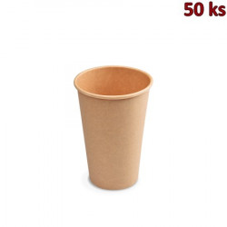 Papírový kelímek hnědý 330 ml L (Ø 80 mm) [50 ks]