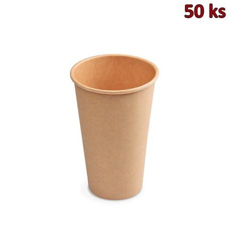 Papírový kelímek hnědý 420 ml, L (Ø 90 mm) [50 ks]