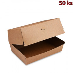 Box na hamburger hnědý PLUS nepromastitelný 19,5 x 13,5 x 10 cm [50 ks]