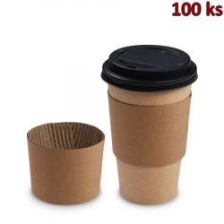 Manžeta papírová, hnědá pro kelímky Ø 90 mm [100 ks]