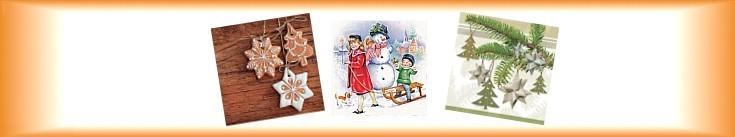 Vánoční ubrousky papírové