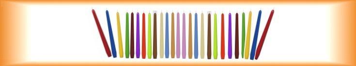 Dekorativní svíčky kónické