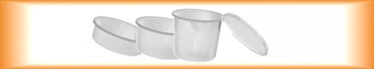 Plastové misky kulaté