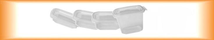 Plastové misky s víčkem